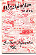 1950 Washington State Cougar College Football Press media Guide      bx cg2