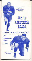 1951 California Bears College Football Press media Guide      bx cg2
