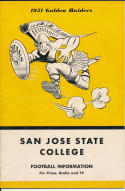 1951 San Jose State College Football Press media Guide     bx 67