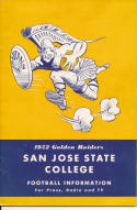 1952 San Jose State College Football Press media Guide     bx pre67