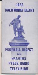 1953 California Bears College Football Press media Guide CFBmg19
