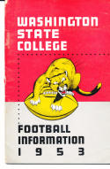 1953 Washington State Cougar College Football Press media Guide      bx cg2