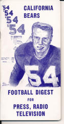 1954 California Bears College Football Press media Guide      bx cg2
