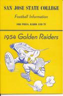 1954 San Jose State College Football Press media Guide     bx pre67