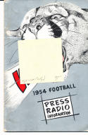 1954 Washington State Cougar College Football Press media Guide      bx cg2