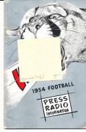 1954 Washington State Cougar College Football Press media Guide      bx cg2