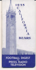 1955 California Bears College Football Press media Guide      bx cg2