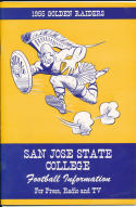1955 San Jose State  College Football Press media Guide     bx pre67