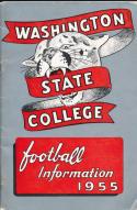 1955 Washington State Cougar College Football Press media Guide      bx cg2