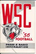 1956 Washington State Cougar College Football Press media Guide      bx cg2