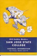 1957 San Jose State  College Football Press media Guide bx pre67