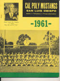 1961 Cal Poly Mustangs College Football Press media Guide CFBmg1 pre67