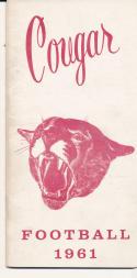 1961 Washington State Cougar College Football Press media Guide      bx cg2