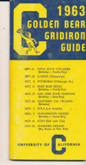 1963 UC CAl Califonria College Football Press media Guide      bx cg2