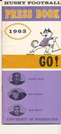 1963 Washington Husky Football Press media Guide      bx cg2