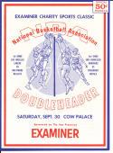 1967 NBA Doubleheader Lakers Bullets Warriors Royals guide    bx cg1