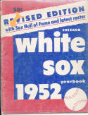 1952 White Sox Revised Yearbook ex (scanned in Plastic bag)