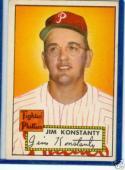 1952 topps Jim Konstanty Phillies 108 ex-em