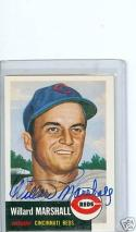 1953 Topps Willard Marshall signed reprint card died