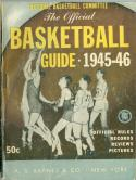 1945 - 1946 Official Basketball Guide  A.S Barnes em