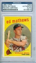 1959 Ed Mathews #450 Signed psa Topps vintage card
