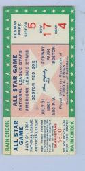 1961 All Star Ticket Boston stub em