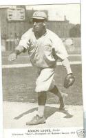1919 Adolfo Luque Reds Exhibit blank card Cuban HOF