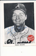 1966 Frank Bolling Braves Dairy Fresh Signed Card