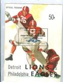 Lions Eagles 1955 football program in Dallas texas!