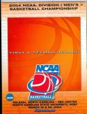 NCAA 2004 Duke Florida Arizona Basketball Champ program