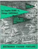 Rams Cardinals 1953 football program portland em