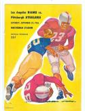 Rams Steelers 1956 9/22 football program portland