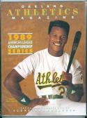 1989 ALCS A's Blue Jays Ricky Henderson program