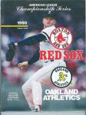 1990 ALCS A's Red Sox program roger clemens