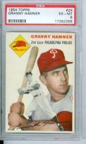 1954 topps Granny Hamner #24 psa 6