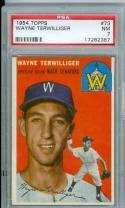 1954 topps wayne terwilliger #73 psa 7