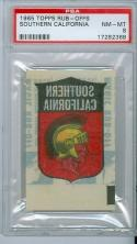 1965 topps Rub-offs USC psa 8 mint