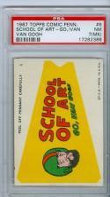 1967 topps comic pennant #6 psa 7 (mk)