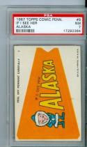 1967 topps comic pennant #9 Alaska psa 7