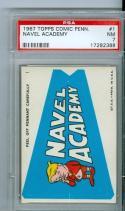 1967 topps comic pennants #1 Navel Academy psa 7 rare