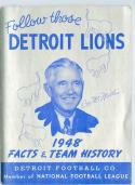 1948 Detroit Lions Football Press Guide NFL EM