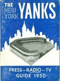 1950 New York Yanks Football Press Guide NFL