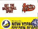 New York Golden Blades   bumper Sticker 1973