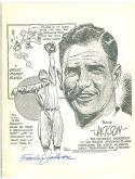 Baseball art print 8x10  Travis Jackson Giants Sketch signed