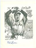 Baseball art print Ted Lyons White sox signed