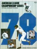 1978 Yankees Royals ALCS championship program