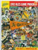 1992 Athletics blue jays ALCS championship program