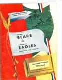 Sept 6, 1952 Bears Eagles football program