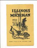 10/28 1922 Illinois vs Michigan Football Program