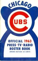 1963 Chicago Cubs spring press media guide nm bx cubs
